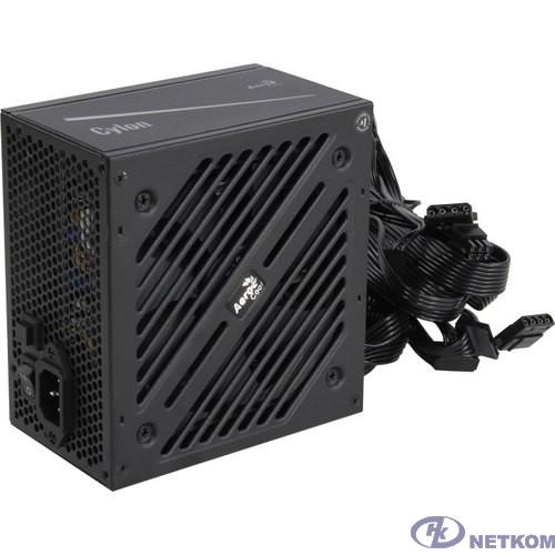 Блок питания Aerocool ATX 600W CYLON 600 80+ (24+4+4pin) APFC 120mm fan color 5xSATA RTL