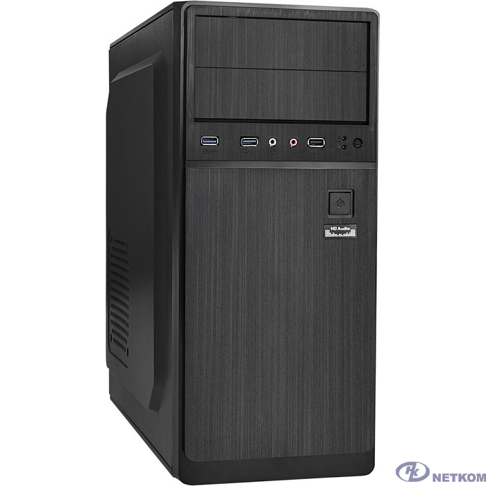 Exegate EX287145RUS Корпус Miditower ExeGate XP-402U2-600W-12 (ATX, XP600 с вент. 12см, 1*USB+2*USB3.0, аудио, черный)