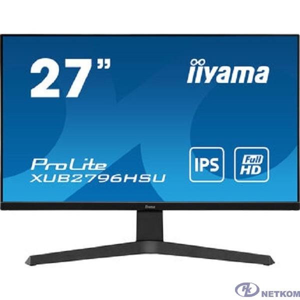 """IIYAMA 27"""" XUB2796HSU-B1 черный {IPS 1920x1080 75Hz 1ms 16:9 250cd 178/178 8bit(6bit+FRC) HDMI DisplayPort FreeSync 2xUSB2.0 2x2W VESA}"""