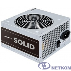 Блок питания Chieftec Chieftec GPP-700S Solid 700W, ATX-12V V.2.3 PSU with 12 cm Fan, active PFC,Efficiency 85%,230V