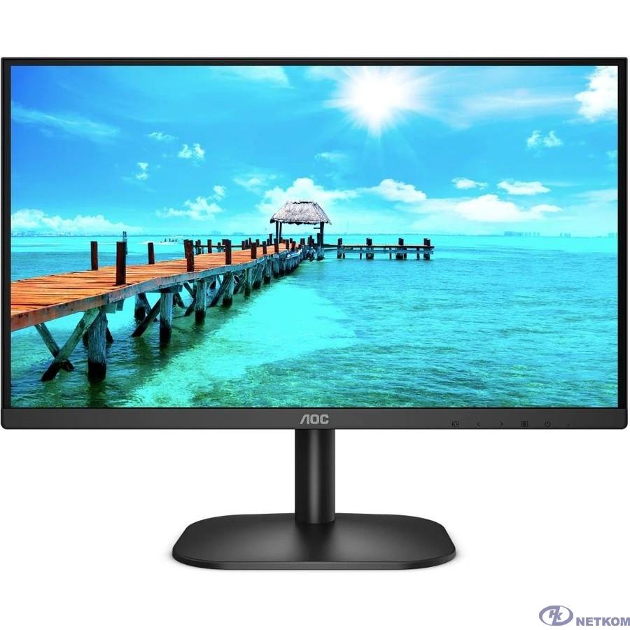 """LCD AOC 23.8"""" 24B2XDM черный {VA 1920x1080 75Hz 4ms 178/178 250cd 3000:1 8bit(6bit+FRC) D-Sub DVI AdaptiveSync AudioOut 2x2W VESA}"""