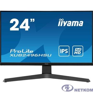 """IIYAMA 23.8"""" XUB2496HSU-B1 черный {IPS 1920x1080 75Hz 1ms 16:9 250cd 178/178 8bit(6bit+FRC) HDMI2.0 DisplayPort1.2 FreeSync 2xUSB2.0 2x2W VESA}"""