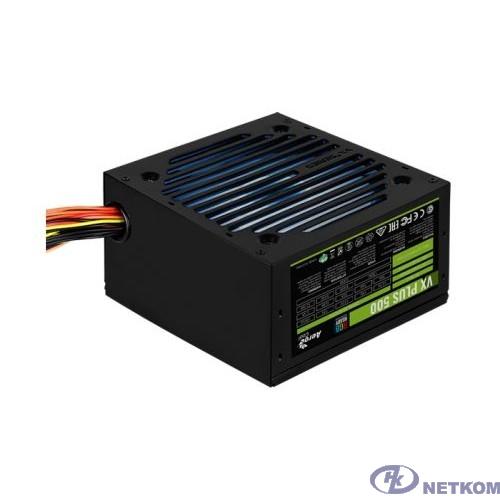 Блок питания Aerocool VX-500 RGB PLUS (ATX 2.3, 500W, 120mm fan, RGB-подсветка вентилятора) Box