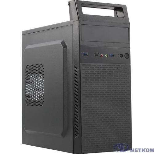 Exegate EX287418RUS Корпус Minitower ExeGate QA-409U2-450W-12 (mATX, БП XP450 с вент. 12см, ручка, 1*USB+2*USB3.0, аудио, черный)
