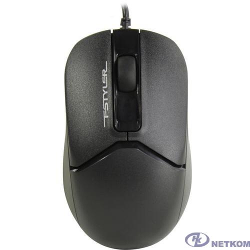 Мышь A4Tech Fstyler FM12 черный оптическая (1200dpi) USB (3but)