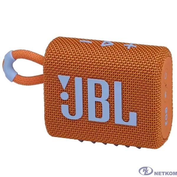 Портативная акустическая система JBL GO 3 orange (JBLGO3ORG)