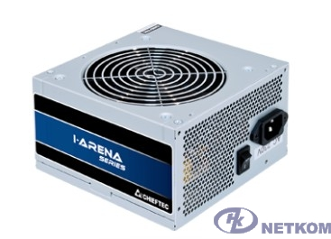 Блок питания Chieftec GPB-500S Блок питания 500W PSU i-Arena ATX-12V V.2.3, 12cm fan, Active PFC, Efficiency 85% OEM