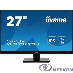 Iiyama 27'' XU2792QSU-B1 {IPS 2560х1440 350cd 178/178 1000:1 5ms D-Sub DVI HDMI DisplayPort USB-Hub}