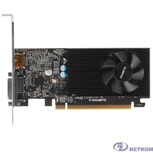 Gigabyte GV-N1030D4-2GL RTL (V1.0) {nVidia GeForce GT 1030 2048Mb 64bit DDR4 1177/2100 DVIx1/HDMIx1/HDCP low profile}