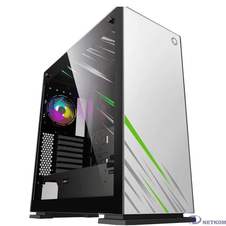 GameMax Корпус Vega pro White без БП (Full ATX, Белый, Зак.стекло, USB 3.0, 3*120mm вент.)