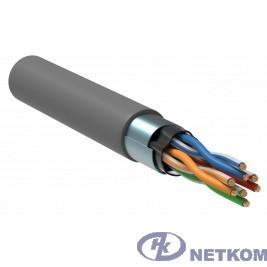 ITK LC1-C5E04-311-R Витая пара F/UTP 5E 4 х 2 х 24 AWG solid PVC серый (305м) РФ