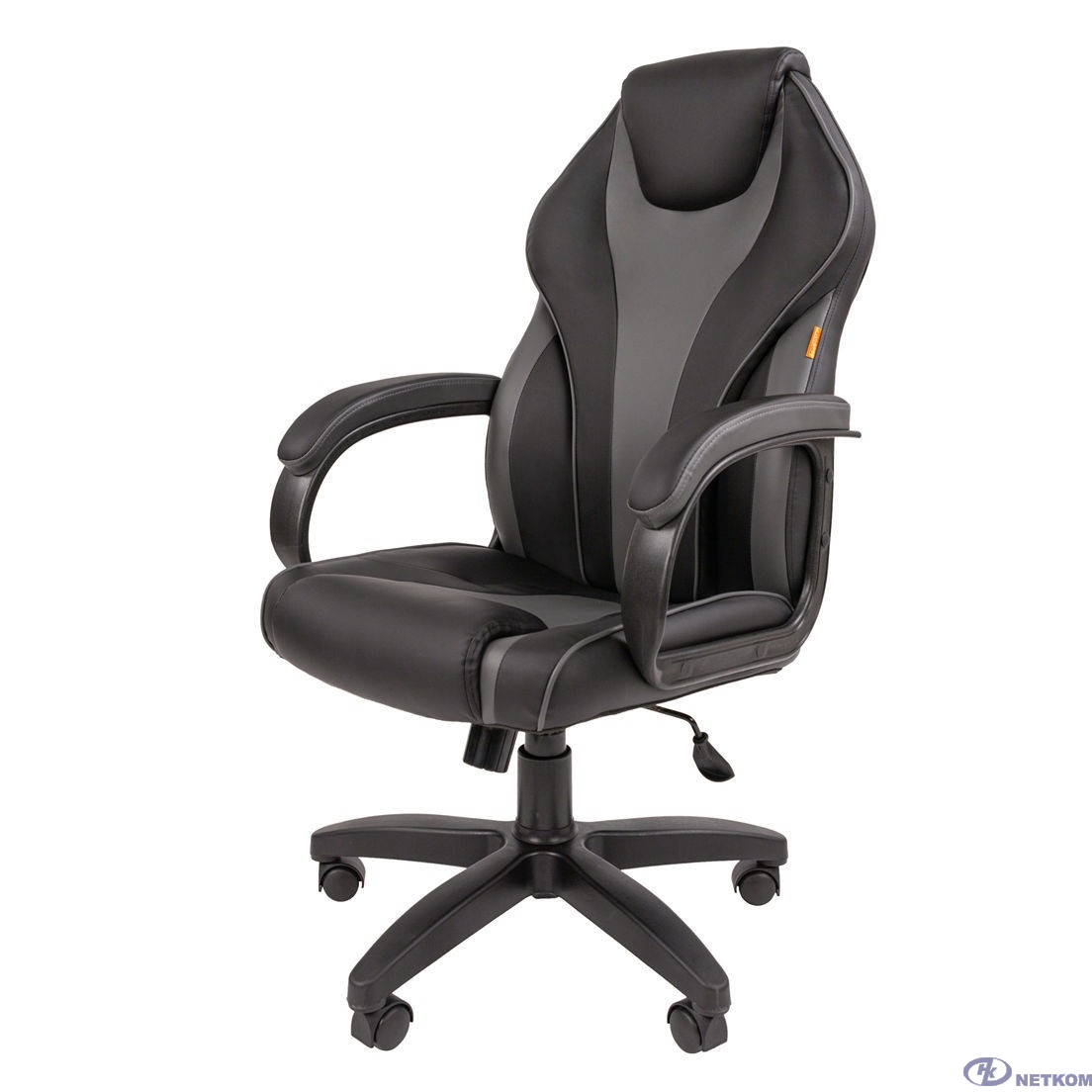 Офисное кресло Chairman 299 Россия экопремиум черный/серый (7062451)