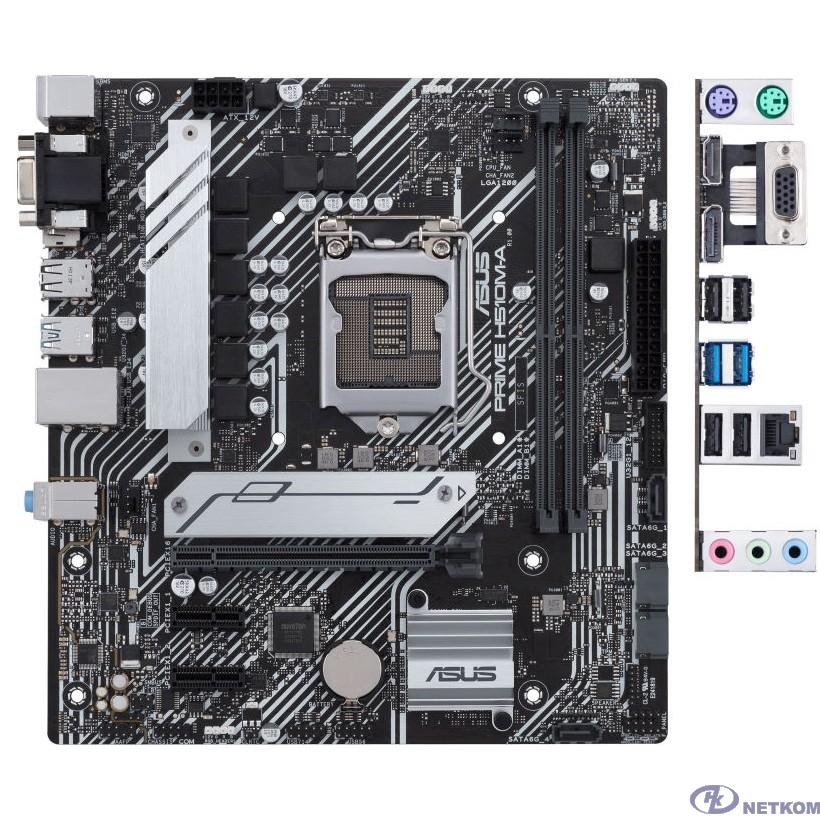 Asus PRIME H510M-A {Soc-1200 Intel H510 2xDDR4 mATX AC`97 8ch(7.1) GbLAN+VGA+HDMI+DP}