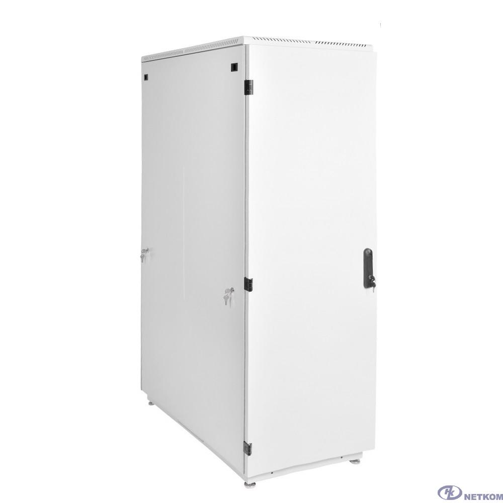 ЦМО Шкаф телекоммуникационный напольный 42U (600x1000) дверь металл (ШТК-М-42.6.10-3AAA) (3 коробки)