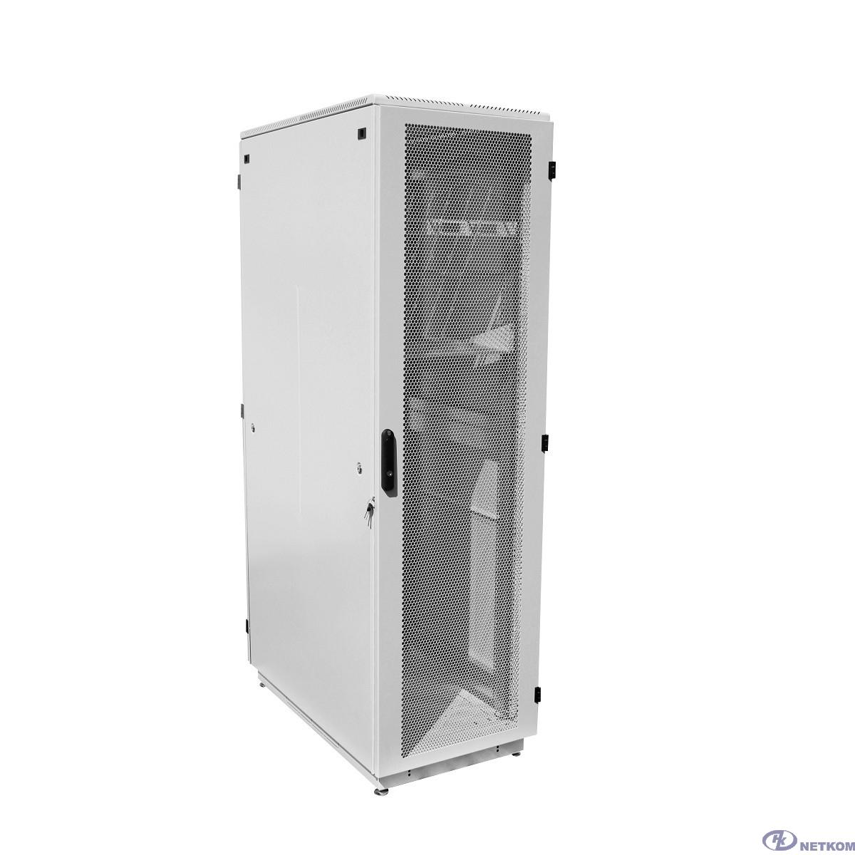 ЦМО Шкаф телекоммуникационный напольный 42U (600x1000) дверь перфорированная (ШТК-М-42.6.10-4ААА) (3 коробки)