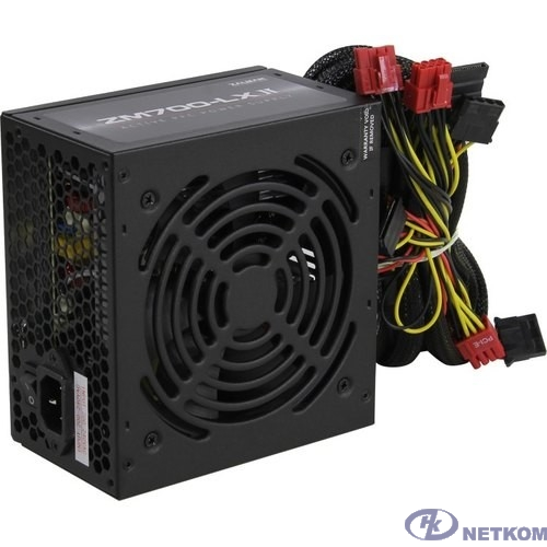 Блок питания Zalman ZM700-LXII <700W, (20+4+4+4) pin, 4x(6+2) pin, 6xSATA, 5xMolex, FDD, 14 см, кабель питания, 87%, Act