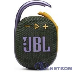 Колонка порт. JBL Clip 4 зеленый 5W 1.0 BT 15м 500mAh (JBLCLIP4GRN)