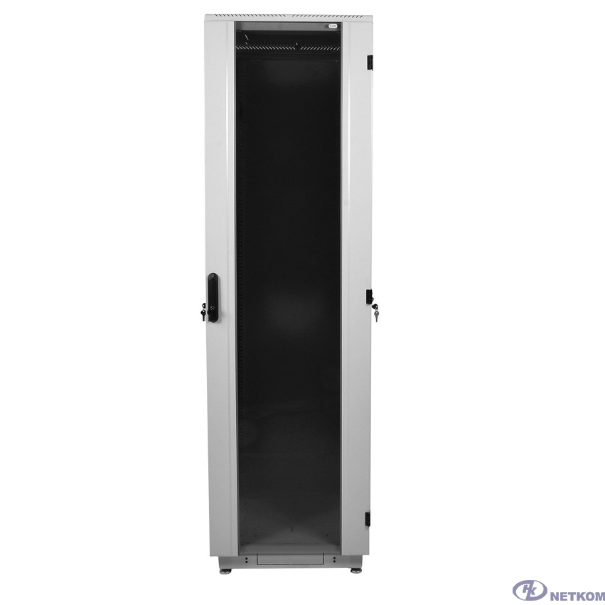 ЦМО Шкаф телекоммуникационный напольный 42U (600x1000) дверь стекло (ШТК-М-42.6.10-1ААА) (3  коробки)