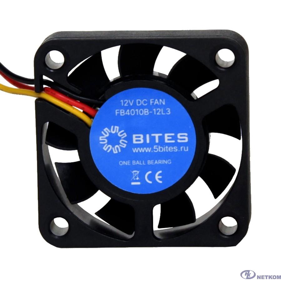 5bites Вентилятор FB4010B-12L3 40X10 / BALL / 6000RPM / 3P