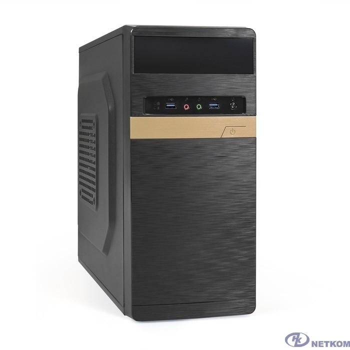 Exegate EX287764RUS Корпус Minitower ExeGate BAA-105U2-500W-8 (mATX, БП AA500 с вент. 8см, 2*USB3.0, HD аудио, черный)