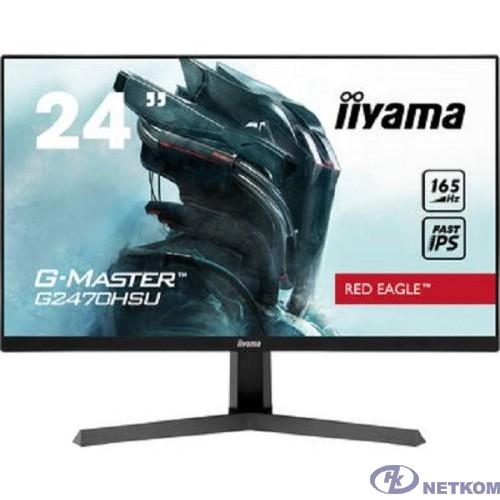 Iiyama 23.8'' G2470HSU-B1 {IPS 1920х1080 165Hz 250cd 178/178 1100:1 0.8ms 8bit(6bit+FRC) HDMI1.4 DisplaPort1.2 FreeSync(Prem) 2xUSB2.0 2x2W VESA}