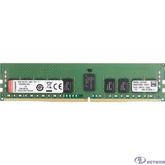 Kingston DRAM 16GB 2400MHz DDR4 ECC Reg CL17 DIMM 1Rx4 Hynix D IDT EAN: 740617308228  KSM24RS4/16HDI