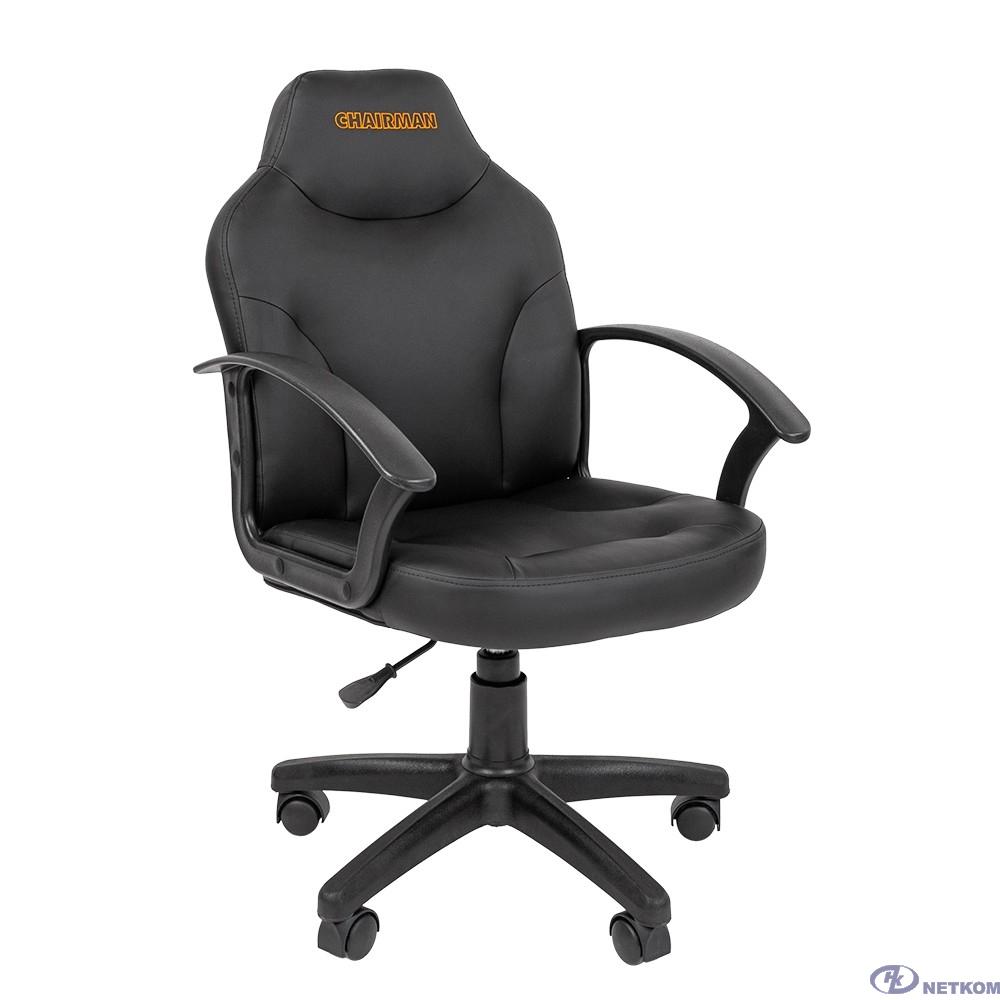 Офисное кресло Chairman    210    Россия     экопремиум  черное  лого  (7066156)