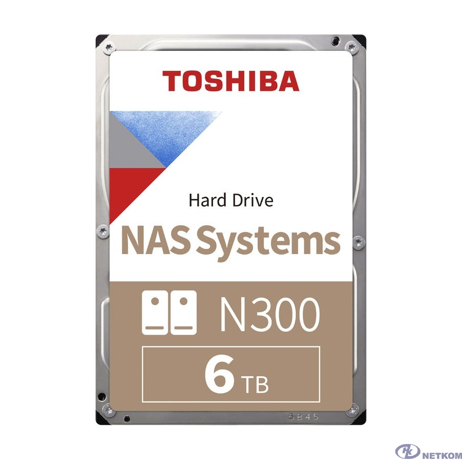 "6TB Toshiba N300 (HDWG160UZSVA) {SATA 6.0Gb/s, 7200 rpm, 258Mb buffer, 3.5"" для NAS, RTL}"
