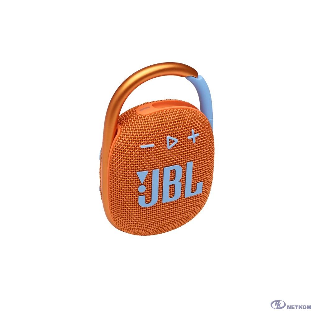 Динамик JBL Портативная акустическая система  JBL CLIP 4, оранжевая