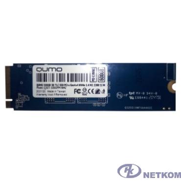 QUMO M.2 SSD 500GB 4x4 NVMe 1.4 Novation TLC 3D Q3DT-500GPP4-NM2