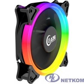 Powercase Вентилятор (PF1-3+4) 5 color LED 120x120x25mm (100шт./кор, 3pin + Molex, 1150±10% об/мин) Bulk