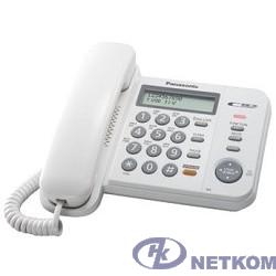 """Panasonic KX-TS2358RUW (белый) {АОН,Caller ID,ЖКД,блокировка набора,выключение микрофона,кнопка """"пауза""""}"""