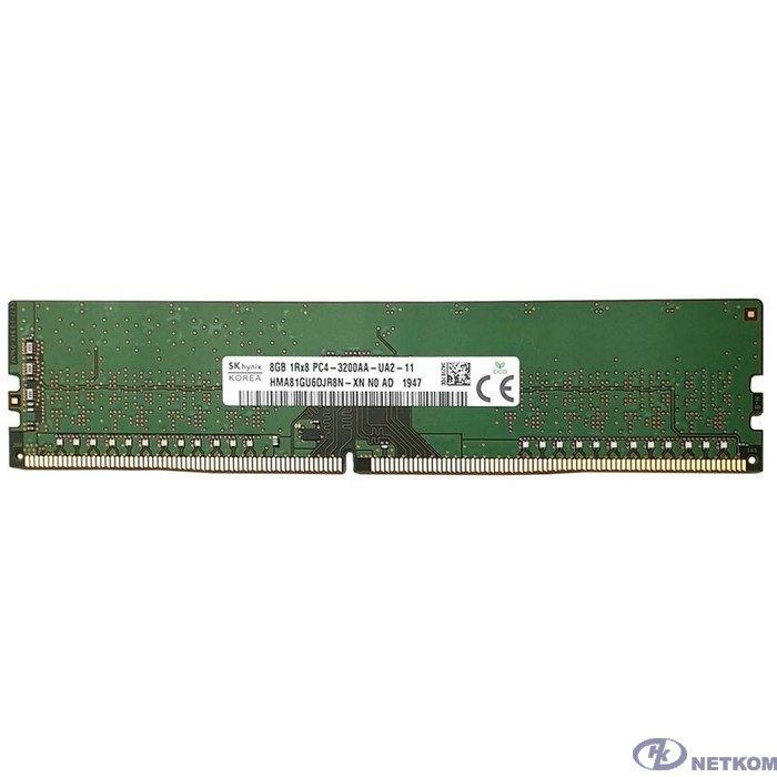Hynix DDR4 8Gb 3200MHz HMA81GU6DJR8N-XN  PC4-25600 DIMM 288-pin 1.2В single rank