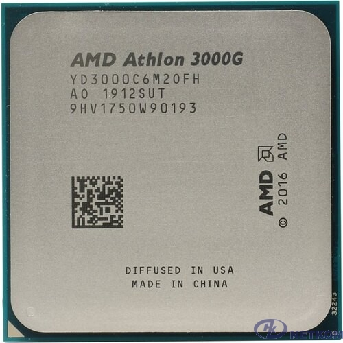 CPU AMD Athlon 3000G (YD3000C6M2OFB) {3.5GHz/100MHz/Radeon Vega 3} OEM