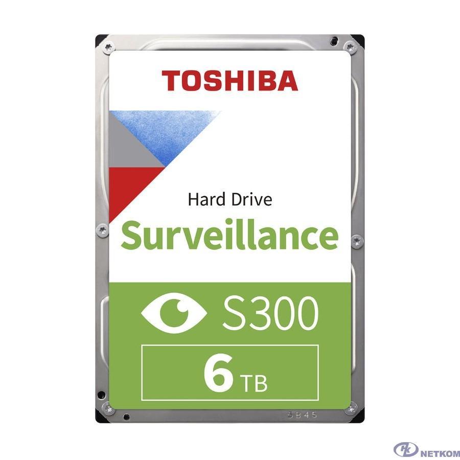 """6TB Toshiba Surveillance S300 (HDWT860UZSVA/HDKPB06Z0A01S) {SATA 6.0Gb/s, 5400 rpm, 256Mb buffer, 3.5"""" для видеонаблюдения}"""