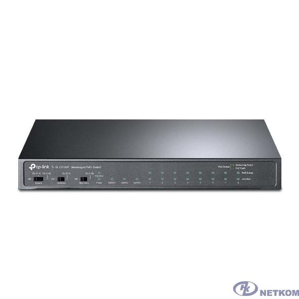 TP-Link TL-SL1311MP Настольный коммутатор на 8 PoE+ портов 10/100 Мбит/с и 3 гигабитных порта
