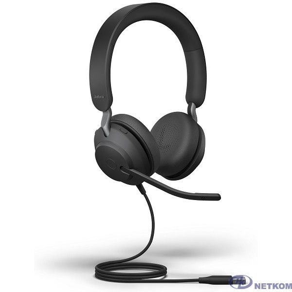 Гарнитура проводная Jabra Evolve2 40, USB-A, MS Stereo [24089-999-999]