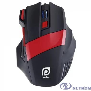 "Perfeo мышь оптическая ""GEAR"", 7 кн, USB,чёрн-красн, GAME DESIGN, подсветка 6 цвет [PF_5019]"