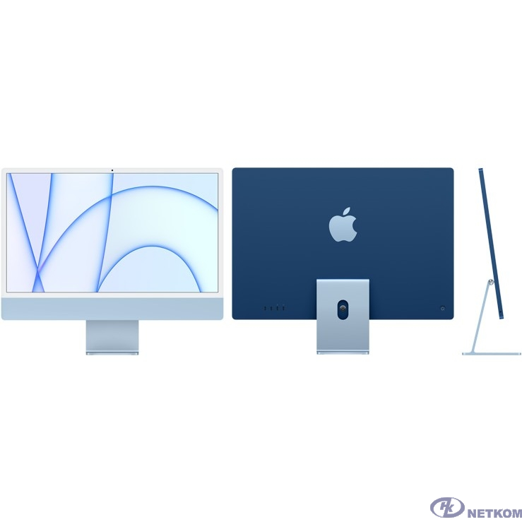 "Apple iMac [MGPL3RU/A] Blue 24"" Retina 4.5K {Apple M1 chip with 8-core CPU and 8-core GPU/8GB/512GB SSD/LAN} (2021)"