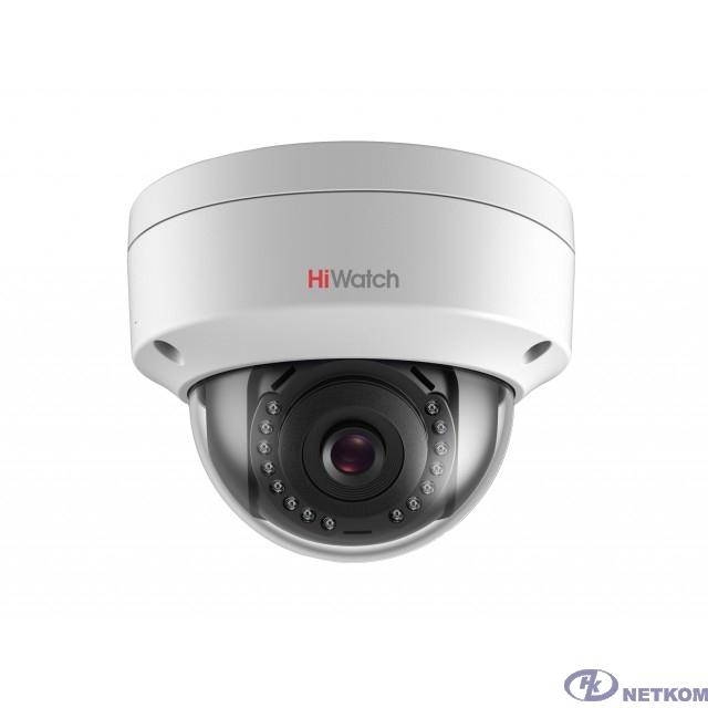 HiWatch DS-I402 (B) (4 mm) Видеокамера IP 4-4мм цветная корп.:белый