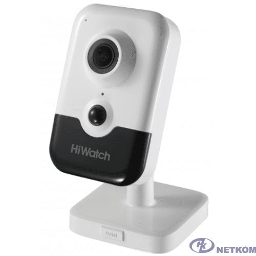 HiWatch DS-I214(B)4мм Видеокамера IP цветная корп.:белый/черный