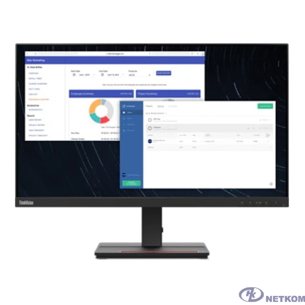 "LCD Lenovo 27"" ThinkVision S27e-20 черный {IPS 1920x1080 4ms 16:9 1000:1 250cd 178/178 D-Sub HDMI}"