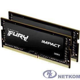 Kingston DRAM 32GB 2666MHz DDR4 CL15 SODIMM (Kit of 2) 1Gx8 FURY Impact KF426S15IB1K2/32