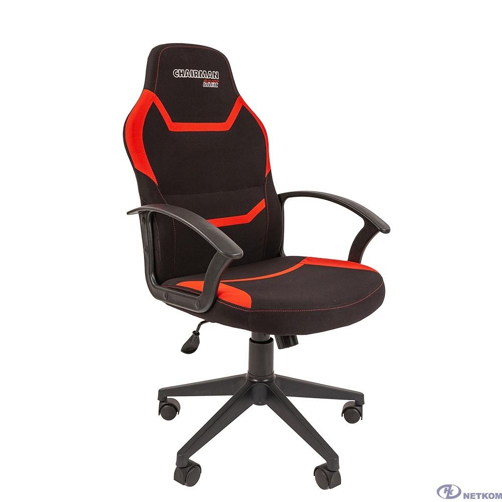 Кресло Chairman  game 9 Россия ткань черно/красный (7068840)
