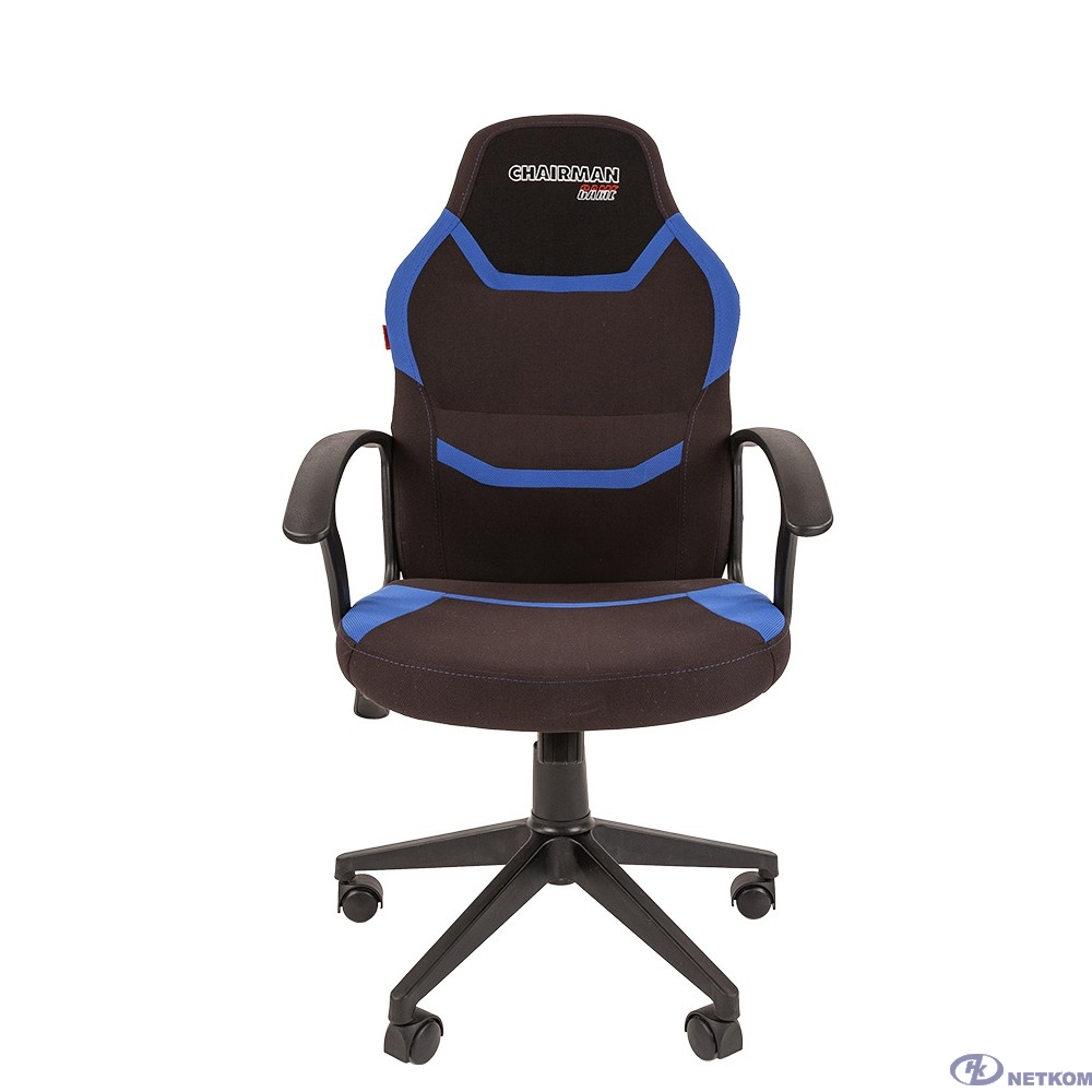 Кресло Chairman  game 9 Россия ткань черно/синий (7068844)