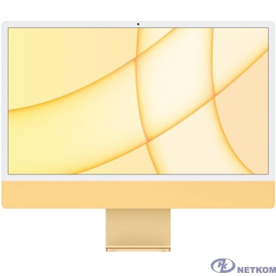 """Apple iMac [Z12T000AK, Z12T/1] Yellow 24"""" Retina 4.5K {M1 chip with 8 core CPU and 8 core/8GB/1TB SSD/LAN} (2021)"""