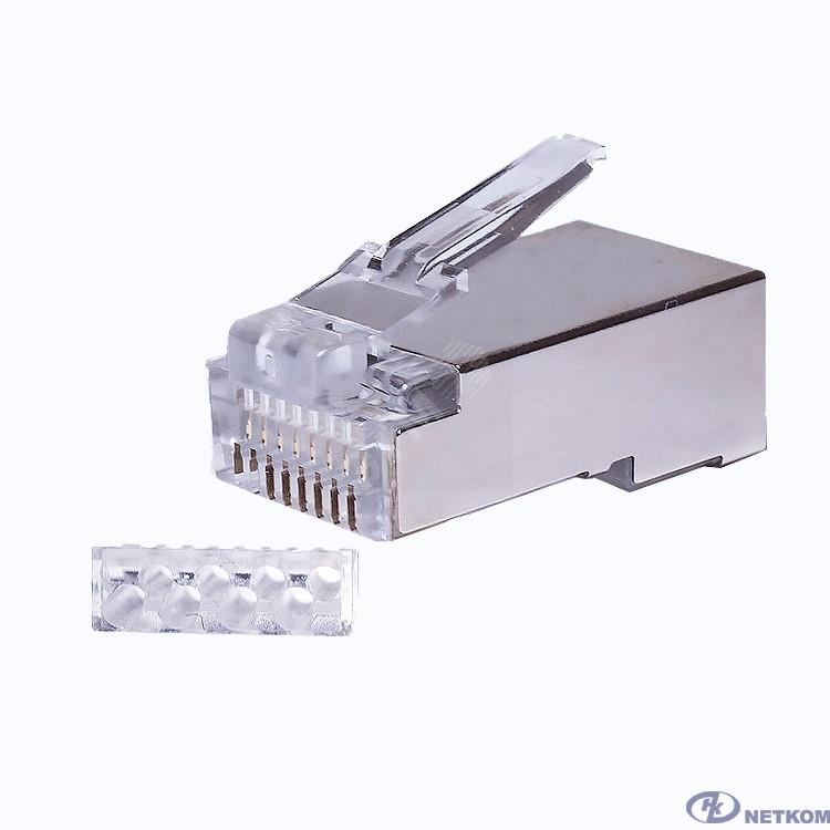 Neomax NM-RJ45-26Ub-8p8c коннектор под витую пару RJ-45, экранированный, категория 6, универсальные ножи, 8P8C, 100 шт.