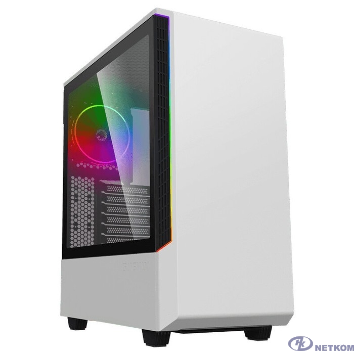 GameMax Корпус T802 Panda, Белый, 2*USB3.0; зак. стекло, (без БП)