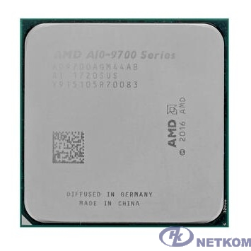 CPU AMD A10 9700 OEM Multipack (+ кулер) {3.5-3.8GHz, 2MB, 45-65W, Socket AM4}