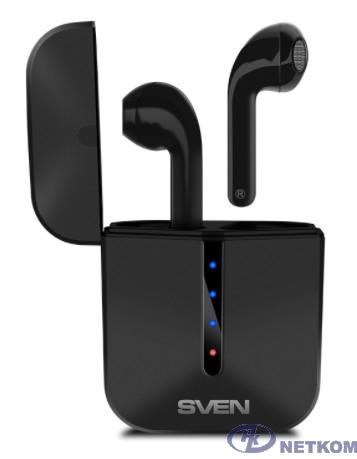 SVEN E-335B, черный (Bluetooth, TWS, зарядный кейс)